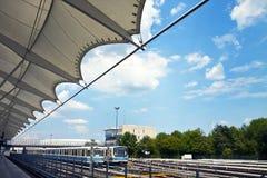 Munich-Froettmaning tunnelbanastation, detalj Arkivfoton
