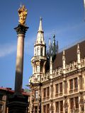 Munich gammal fyrkant Arkivbild