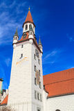 Munich gammalt stadshus med tornet, Bayern Royaltyfria Bilder