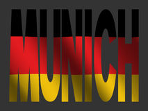 Munich with German flag Stock Image