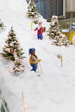 MUNICH, GERMANY – DECEMBER 24, 2009: Christmas decorations at Munich airport Stock Photo