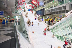 MUNICH, GERMANY – DECEMBER 24, 2009: Christmas decorations at Munich airport Stock Photos