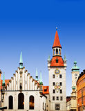 Munich Germany. The Old Town Hall of Munich in central square Marienplatz, Munich Germany Royalty Free Stock Image
