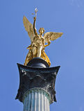 Munich, Germany - Angel of Peace golden statue Stock Photos