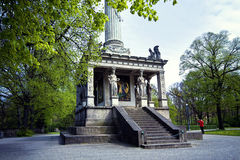Munich, Germany - Angel of Peace monument, plinth detail with ca Royalty Free Stock Photography