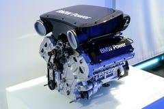 Munich, Germany, April 19, 2016 BMW museum. Engine of sport BMW Royalty Free Stock Image