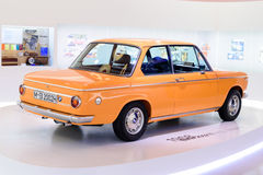 Munich, Germany, April 19, 2016 - BMW 2002 ti at museum of BMW. Royalty Free Stock Photo