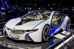 Munich, Germany, April 19, 2016 - Futuristic BMW car Stock Photo
