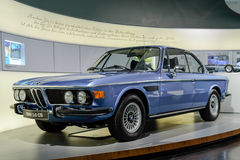 Munich, Germany, April 19, 2016 - old BMW 3.0 CS. At BMW museum Stock Image