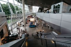 Interior shot of BMW Welt in Munich Royalty Free Stock Image