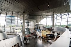Interior shot of BMW Welt in Munich Royalty Free Stock Photos