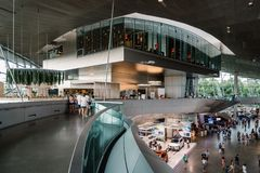 Interior shot of BMW Welt in Munich Royalty Free Stock Images