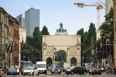 Munich, Germany: Avg 15 2015 - The Siegestor (english: Victory A Royalty Free Stock Photo