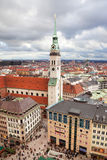 Munich. Germany. Bavaria, view from the top Stock Image