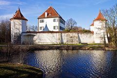 Munich, Germany: Blutenburg Castle, built on the banks of Wuerm stock image