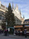 Munich, Germany - Christmas tree in Marienplatz Stock Images