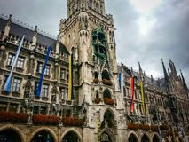 munich germany City hall glockenspiel royalty free stock photo