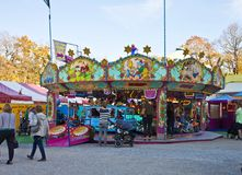 Munich, merry-go-round at Auer Dult flea market Royalty Free Stock Images