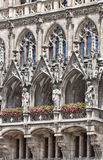 Munich, Germany - detail of the facade of the city hall Stock Image