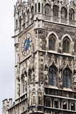 Munich, Germany - detail of the New Town Hall clock tower Stock Photography