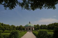 Munich, Germany - Dianatempel in Hofgarten garden. Munich, Germany - Dianatempel pavilion for the goddess Diana in Hofgarten garden royalty free stock photography