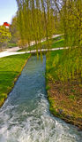 Munich, Germany -  Englischer Garten and Isar channel Stock Images