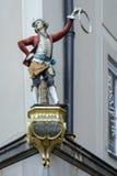 MUNICH, GERMANY/EUROPE - 25 DE SETEMBRO: Estátua de Schaffler no Muni Fotos de Stock Royalty Free