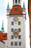 Munich, Germany - the fairytale tower of the old city hall Stock Photo