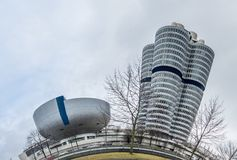 Munich , Germany - February 15 2018 : The BMW headquarters are located in the city of Munich Stock Photo