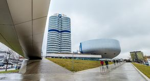 Munich , Germany - February 15 2018 : The BMW headquarters are located in the city of Munich Stock Image