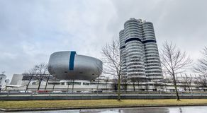Munich , Germany - February 15 2018 : The BMW headquarters are located in the city of Munich Royalty Free Stock Photos