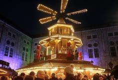 Munich, Christmas market at Residenz Kaiserhof Stock Image