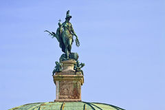 Munich, Germany - Hofgarten round pavillon, detail of the bronze Stock Image