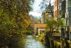 Munich, Germany - Houses in center city near Englischer Garten Royalty Free Stock Photos