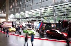 MUNICH,GERMANY - 9-14-2017: Interior of BMW World BMW Welt mus. Eum and showroom in Munich Stock Photos