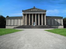 Glyptothek of Munich. People are resting next to the museum. Munich, Germany - July 9, 2015: Glyptothek of Munich. People are resting next to the museum royalty free stock photos