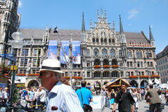 Munich, Germany - July 07, 2011: Unidentified people in a crowde Stock Photos