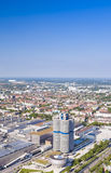 Munich, Germany- june 17, 2012: aerial view of Munich industrial Stock Photo
