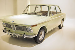 Munich, Germany- june 17, 2012: BMW 1600 class coupe automobile on Stand in BMW Museum in June 17, 2012, Munich, Republic of Germa Royalty Free Stock Photos
