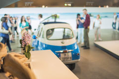 Munich, Germany- june 17, 2012: BMW Isetta Small Car on Stand in Stock Photo