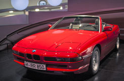 Munich, Germany- june 17, 2012: BMW 850 -series car on Stand in Stock Photography