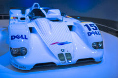 Munich, Germany- june 17, 2012: BMW V12 LMR Racing Car is Being. Demonstrating on Stand in BMW Museum in June 17, 2012, Munich, Republic of Germany. Horizontal Royalty Free Stock Images