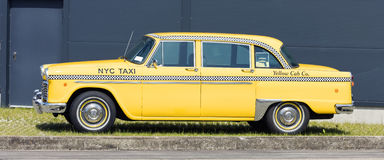Munich, Germany - June 25,2016: Vintage American Yellow Taxi Cab Royalty Free Stock Photos