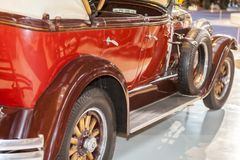 American vintage car, rear view Stock Images