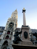 Munich, Germany Marienplatz landmark cathedral Stock Photography