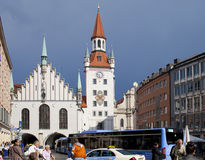 Munich, Germany - May 29, 2012: The Old Town Hall on the Central square of Munich and building 15th century. Munich, Germany Stock Photos