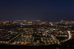 Munich, Germany at night from the Olympic tower. Lights of Munich, Germany at night from the Olympic tower Royalty Free Stock Photography