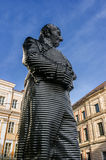 Munich, Germany - October 16, 2011: Statue of Maximilian Graf von Montglas. The statue is made of aluminum and is at Promenadeplatz Stock Photography