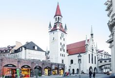 Munich, Germany, Old town hall. stock photo