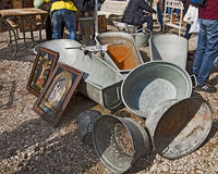 MUNICH Germany - Open air giant flea market Royalty Free Stock Image